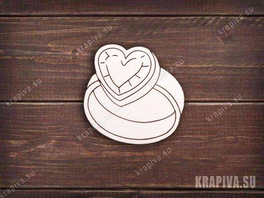 Кольцо с сердцем заготовка значка