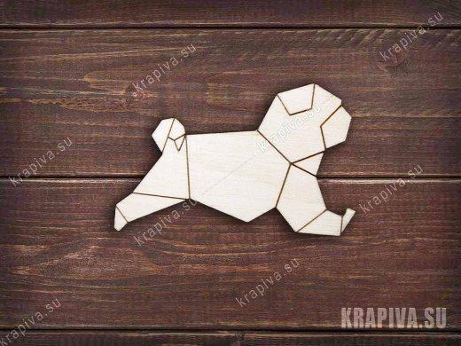 Геометрическая собака №3 заготовка значка