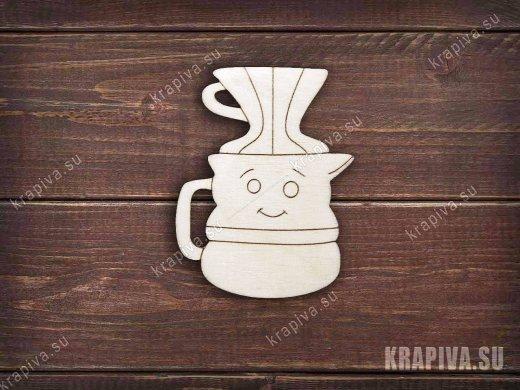 Кофеварка №2 заготовка значка