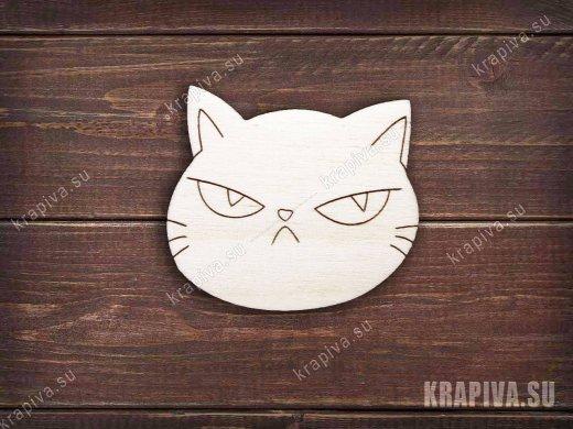 Злой кот №2 заготовка для значка