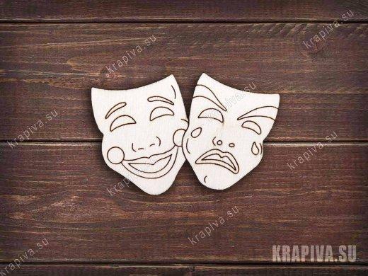 Театральная маска №2 заготовка значка