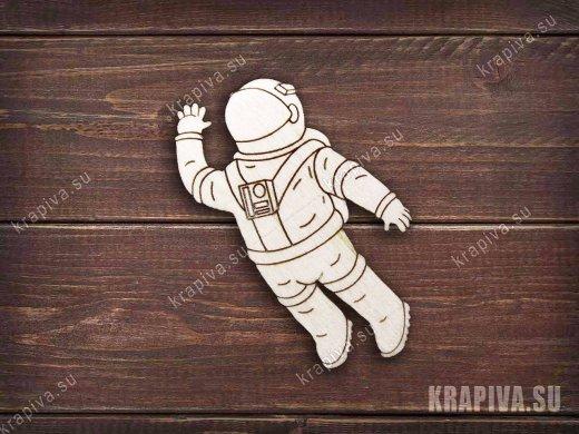 Космонавт №5 заготовка для значка