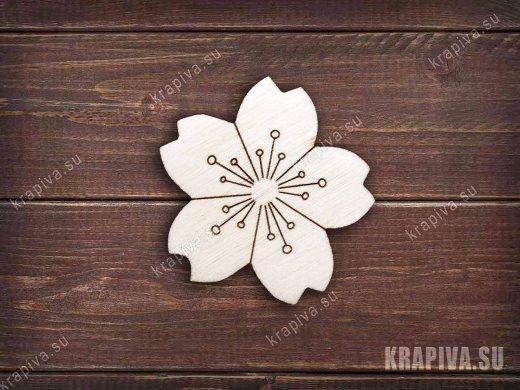 Цветок №4 заготовка значка