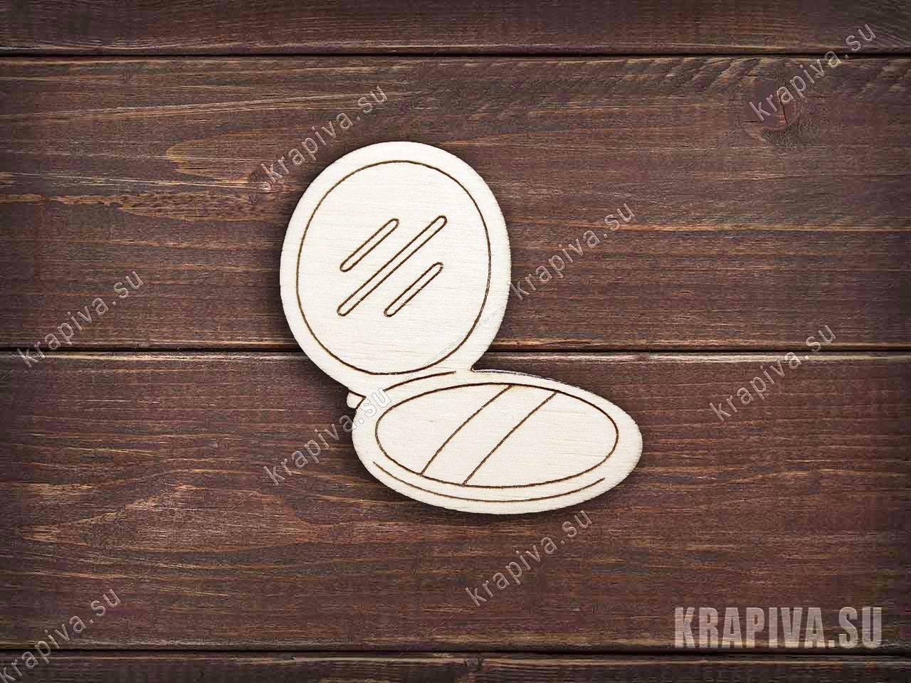 Пудреница заготовка значка за 35 руб. в магазине Крапива (krapiva.su) (фото)