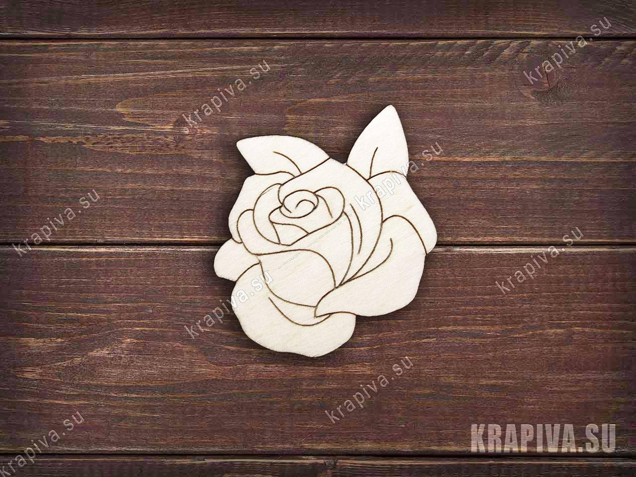 Роза №2 заготовка значка за 35 руб. в магазине Крапива (krapiva.su) (фото)