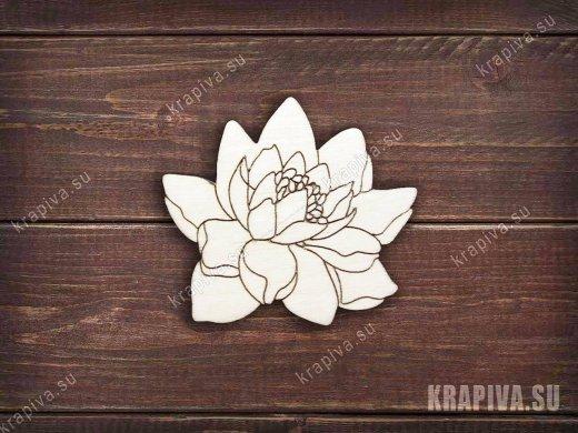 Цветок лотоса заготовка значка