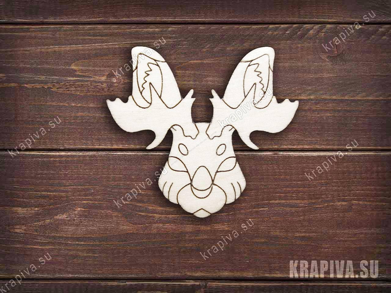 Снежный рогатый заготовка значка за 35 руб. в магазине Крапива (krapiva.su) (фото)