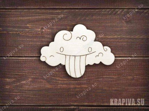 Веселое облако заготовка значка
