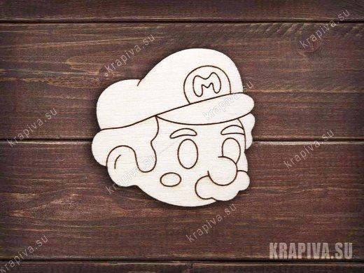 Марио №2 заготовка значка