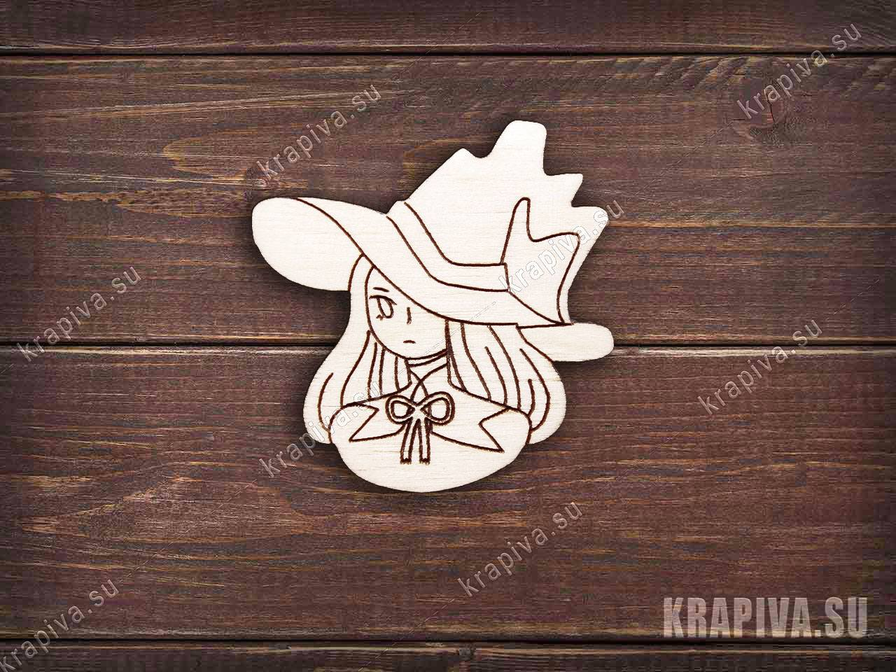 Заготовка значка Магичка (krapiva.su)