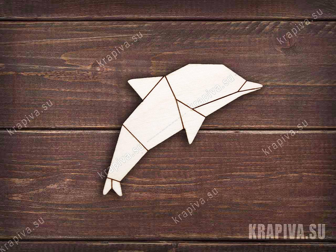 Заготовка из дерева Геометрический дельфин (krapiva.su)